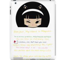 Mouthless Kitty iPad Case/Skin