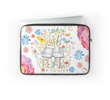 I Just Want To Read - White Floral Laptop Sleeve