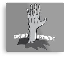 Ground Breaking Metal Print
