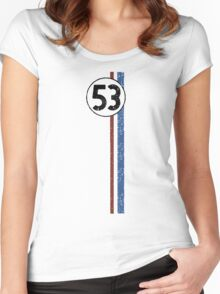 Herbie (Love Bug) #53 Women's Fitted Scoop T-Shirt