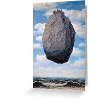 The Castle of the Pyrenees - Magritte Greeting Card