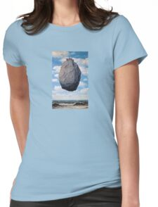 The Castle of the Pyrenees - Magritte Womens Fitted T-Shirt