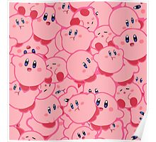 Kirby Pattern Vectored Poster