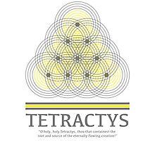 Tetractys - Gray and Yellow Photographic Print