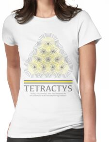 Tetractys - Gray and Yellow Womens Fitted T-Shirt