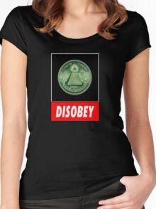 Disobey Illuminati/ Killuminati Women's Fitted Scoop T-Shirt