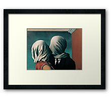 The Lovers, Les Amants - Magritte Framed Print