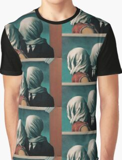 The Lovers, Les Amants - Magritte Graphic T-Shirt