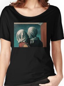 The Lovers, Les Amants - Magritte Women's Relaxed Fit T-Shirt