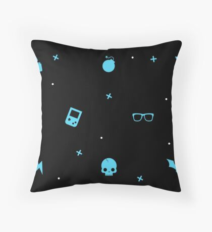 Electric Blue Pattern Throw Pillow