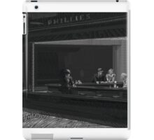 Typography Portrait of Nighthawks Painting By Hopper iPad Case/Skin