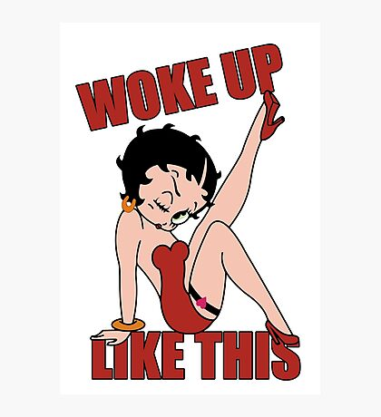 Betty Boop Photographic Print