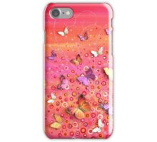 Rush - Pink Orange Flower Meadow iPhone Case/Skin