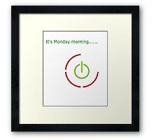 Red Ring of Death Monday Framed Print