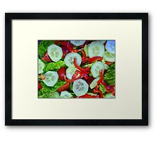 Healthy Food Framed Print