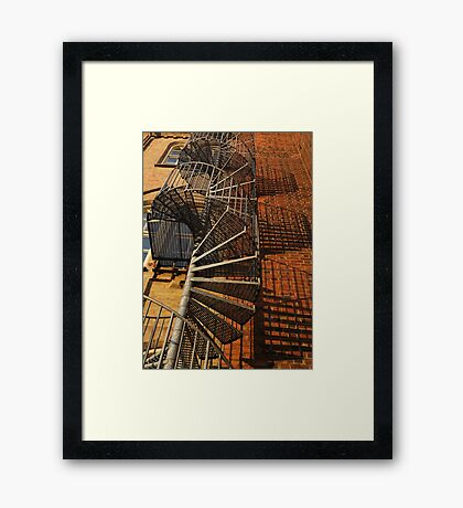 Winding Stairs Framed Print