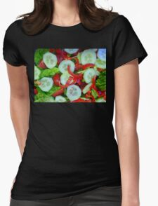 Healthy Food Womens Fitted T-Shirt