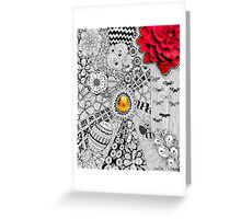 Golden Egg Spring Tangle Drawing Greeting Card