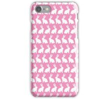 Bunnies on Parade - Pink iPhone Case/Skin