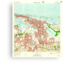 USGS TOPO Map Puerto Rico PR San Juan 362269 1957 20000 Canvas Print