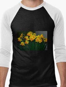 Mary Bohannon Daffodils Men's Baseball ¾ T-Shirt