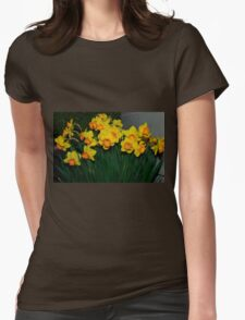 Mary Bohannon Daffodils Womens Fitted T-Shirt