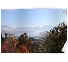 Lucerne scenery Poster