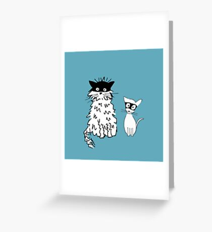 Cat superheroes Greeting Card