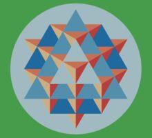 64 Tetrahedron Grid One Piece - Short Sleeve