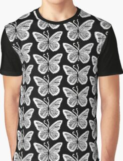 Tangled Butterfly Doodle Art Design Graphic T-Shirt