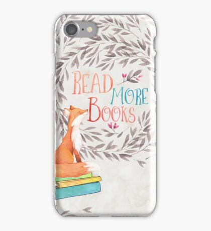 Read More Books - Fox iPhone Case/Skin