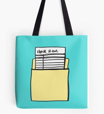 Check it Out Tote Bag