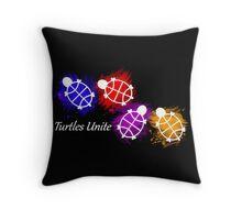 Turtles Unite - Artist Manda Throw Pillow