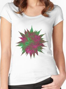 Razzle Dazzle Flower Women's Fitted Scoop T-Shirt