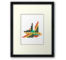 Flat Design swallow - Harlem Framed Print