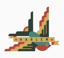 Flat Design swallow - Harlem Kids Tee