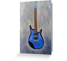 Blue Guitar Acrylic Painting  Greeting Card