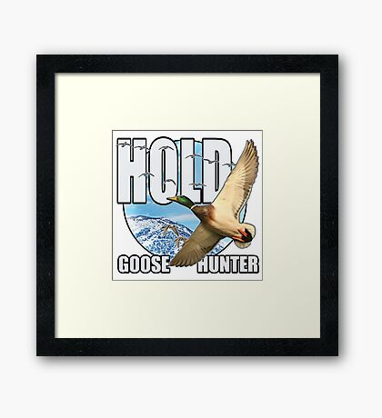 Goose Hunter Framed Print