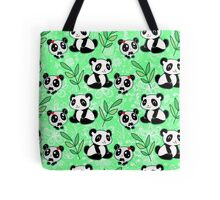 Mama and Baby Panda Pattern Tote Bag