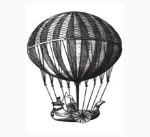 Old balloon vintage, steampunk, old vehicle illustration Kids Tee
