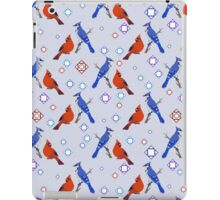 8-bit Blue Jay and Cardinal Pattern iPad Case/Skin