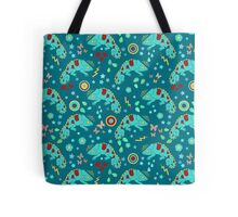 Cute Chameleon Pattern Tote Bag