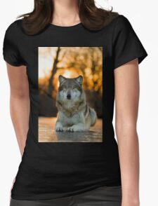 Beautiful Wolf Womens Fitted T-Shirt