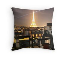 paris eiffel tower by night Throw Pillow