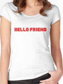 Mr. Robot Hello Friend Women's Fitted Scoop T-Shirt