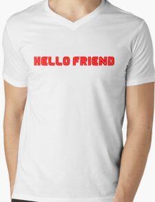 Mr. Robot Hello Friend Mens V-Neck T-Shirt