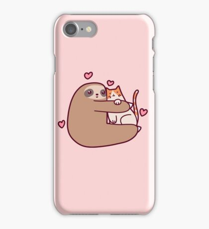 Sloth Loves Cat iPhone Case/Skin