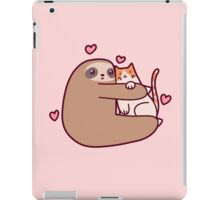 Sloth Loves Cat iPad Case/Skin