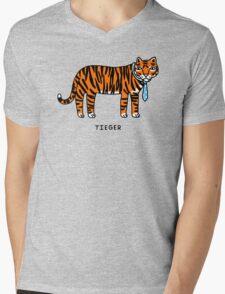 Tieger Mens V-Neck T-Shirt