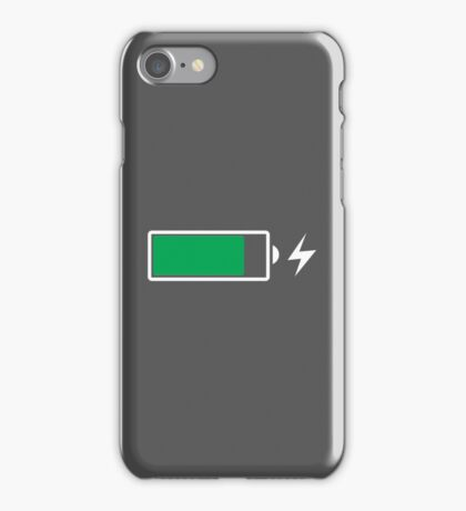 Battery Charging (W) iPhone Case/Skin
